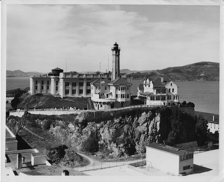 Alcatraz Lighthouse in 1954. Photo courtesy of U.S. Coast Guard